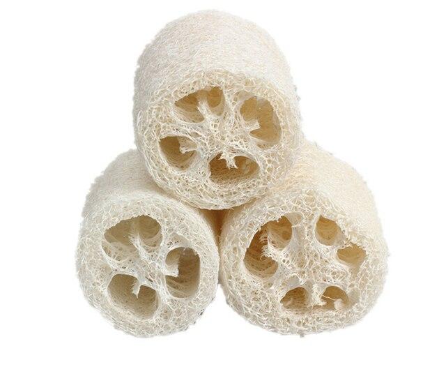 3 шт. Небольшой Размер Природный Люфой Luffa Loofa Ванна Для Душа Губка Scrubber Bath Accessories