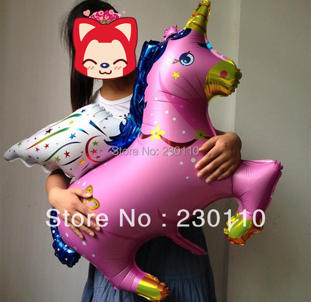 Free shipping 20pcs/lots wholesale high-quality foil balloon helium balloon , Unicorn , Pegasus large pink 100cmX88cm