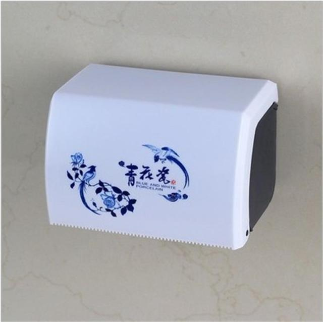 Durable Plastic Toilet Paper Holder Wall Mount Suction Cup Tissue Box Roll Storage Container Bathroom Accessories