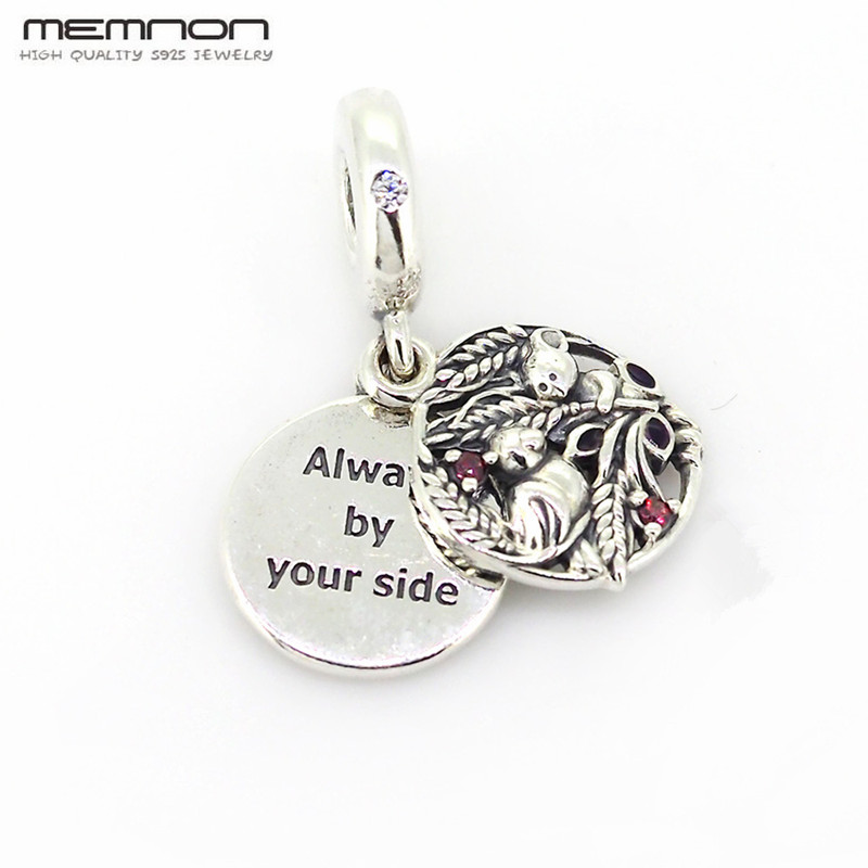 Memnon Always By Your Side Dangle Enamel Charms 925 sterling Silver pendant charm fit bead Bracelet Necklace DIY pendant JewelryMemnon Always By Your Side Dangle Enamel Charms 925 sterling Silver pendant charm fit bead Bracelet Necklace DIY pendant Jewelry