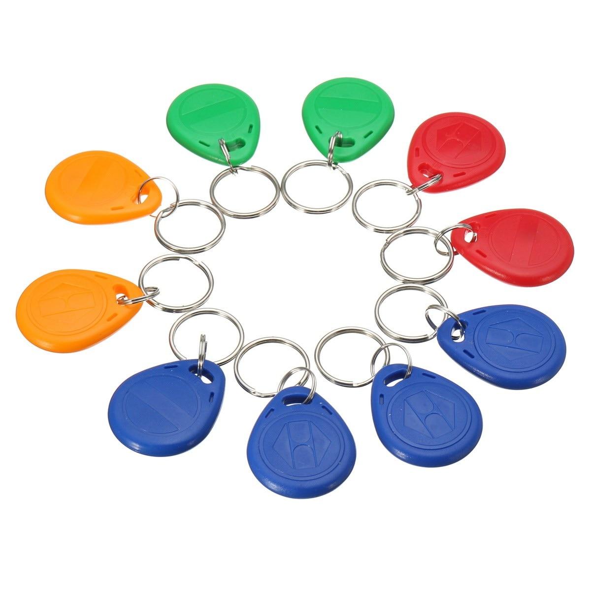10pcs Handheld 125KHz RFID ID cards keyfob EM4305 access control card Tag