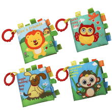Baby Soft Cloth Book Fabrics Quiet Books Infant Animals Foods Early Le