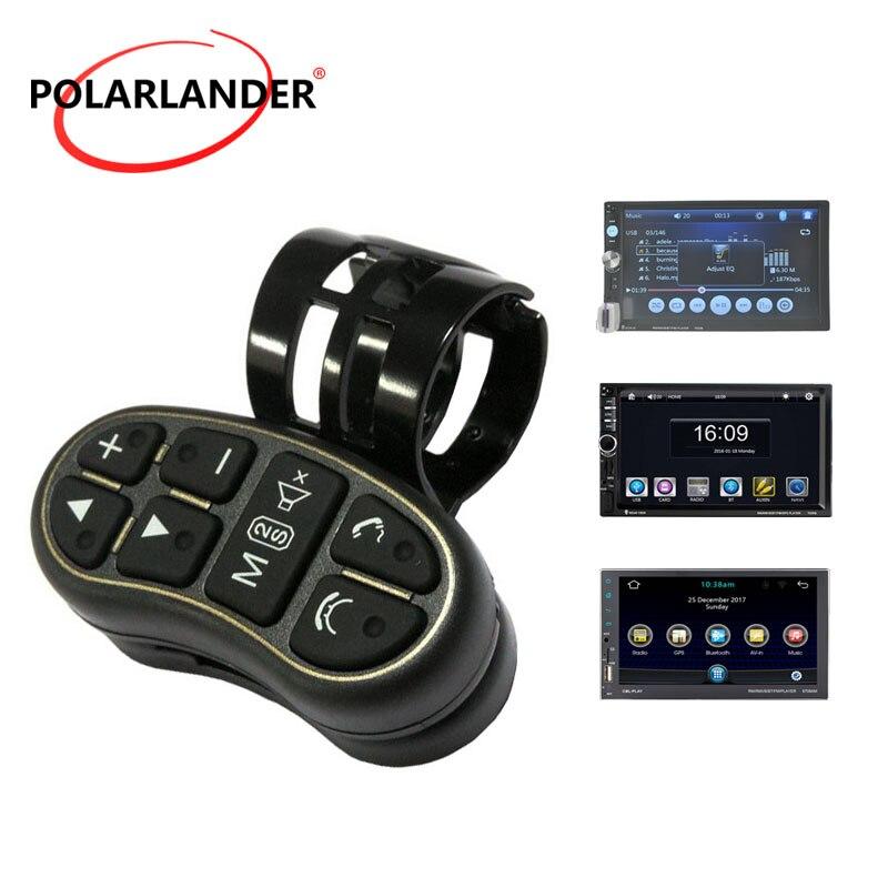 Uso 2 Rádio Din 8 Botão de Volante Do Carro do DIODO EMISSOR de Luz Para O Carro DVD Player Multimídia Controle Remoto Universal Do Bluetooth sem fio