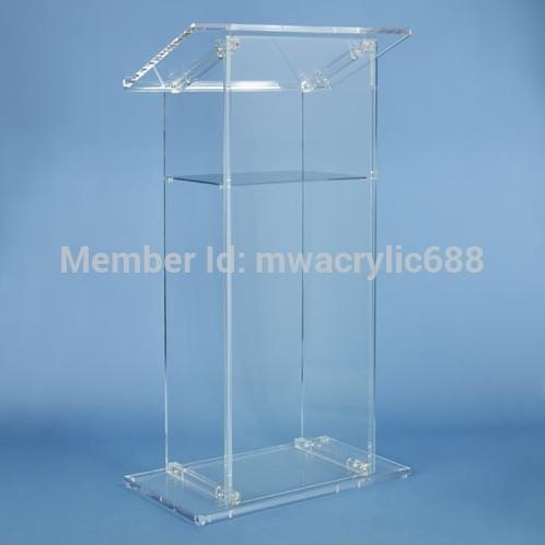 Free Shiping High Quality Modern Design Beautiful Cheap Acrylic Lectern podium Reception Desks     - title=