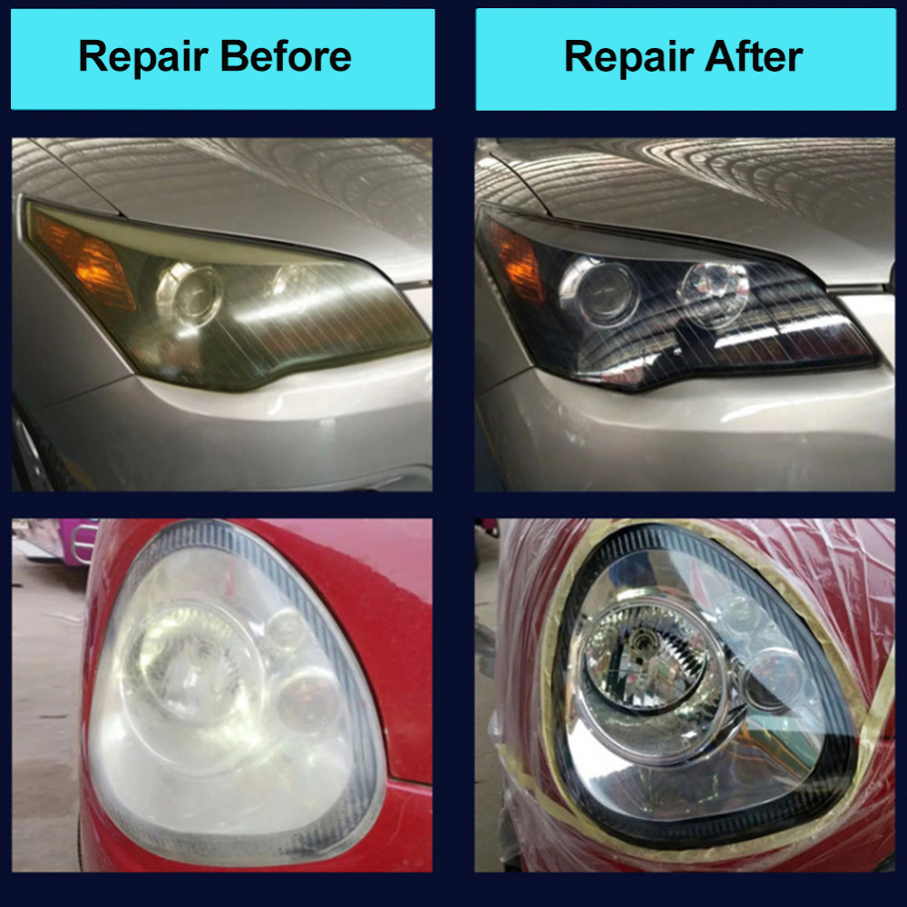 Auto Lamp Tohuu Car Headlight Restoration Kit Diy Auto Lamp Lenses Repair