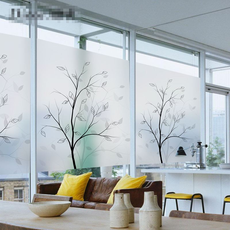 Static Cling Or Self Adhesive Film For Window Stained
