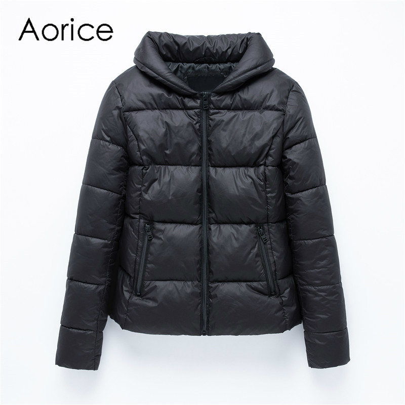 Aorice QY904 Winter jacket women short fashion casual cotton   parkas   female coat winter warm solid color loose outwear plus size