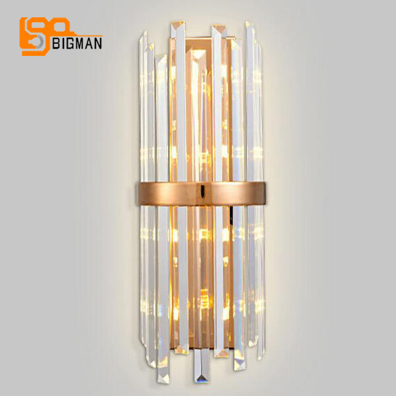 luxury crystal wall lamp lustres sconce light AC110V 220V appliques luminaires murales bedroom wall lights,fast shipping