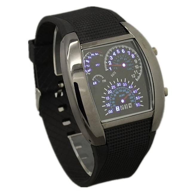45ffa291374 Top Marca de Luxo Relógios TADA Avaition Relógios Velocidade Máxima Do  Carro Dos Homens LED Relógios