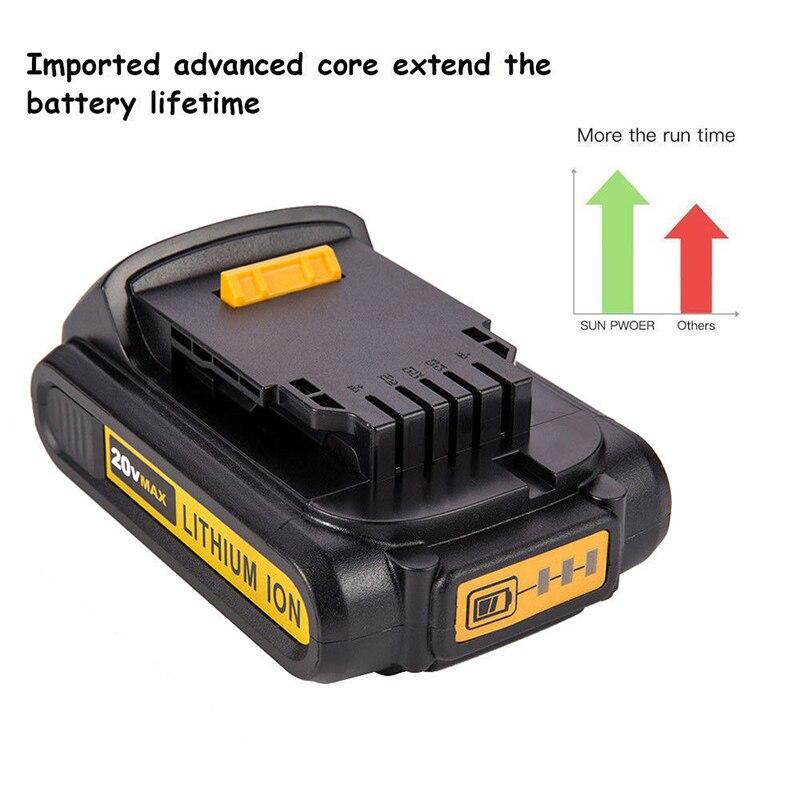 20V 2000mah Li ion Rechargeable Battery For Dewalt 20V 2A Battery Replacement Battery For Dewalt Electric Power Tool