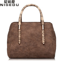 Vintage Boston Handbags small High quality PU leather serpentine Women's Totes female Shoulder bag bolsas Free shipping