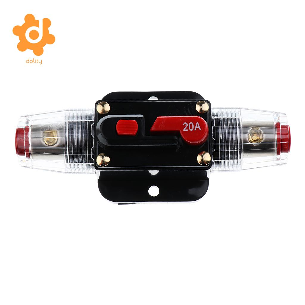 30A 20A 30A 40A 50A 60A 80A 100A 150A AMP Manual Reset Circuit Breaker 12V//24V Car Auto Boat Audio Stereo Fuse