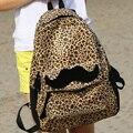 Aresland nova moda da coréia do estilo mulheres mochila meninas bonito bigode leopardo mochila mochila saco de viagem