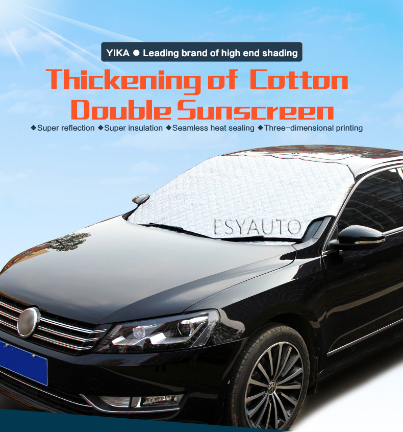 Winter Car Window Sunshade Car Snow Covers For SUV Car Sun Shade Reflective Foil Car Windshield Snow Blocked Anti-UV