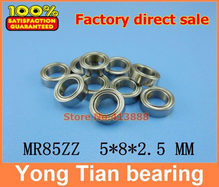 Free Shipping 10 PCS MR85ZZ ABEC-5 5X8X2.5 mm Deep groove Ball Bearings MR85 / L-850 ZZ gcr15 6326 zz or 6326 2rs 130x280x58mm high precision deep groove ball bearings abec 1 p0