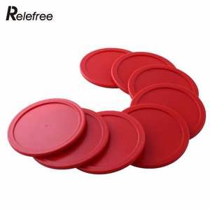 Puck Table-Game Air-Hockey Goalies Mallet Red 8pcs 63mm Entertainment Party-Tools Children