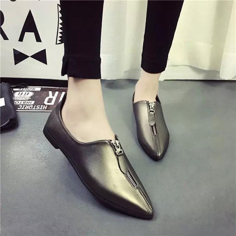 2016 New Spring Fall Fashion Hot font b Women b font Pointed Toe Casual Shoes Red