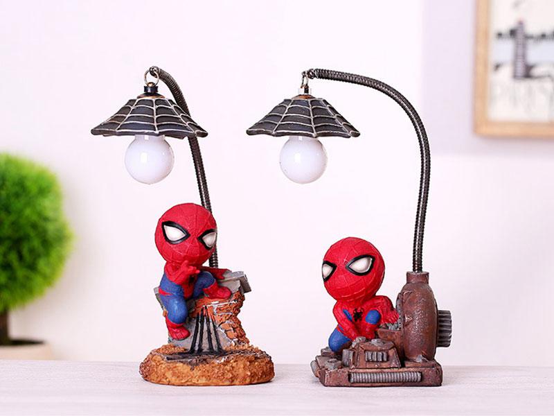 Cartoon Avengers Action Figures Spider Man Night Lamp Resin Children Bedroom LED Night Light for Boy Kids Xmas Creative Gift (4)