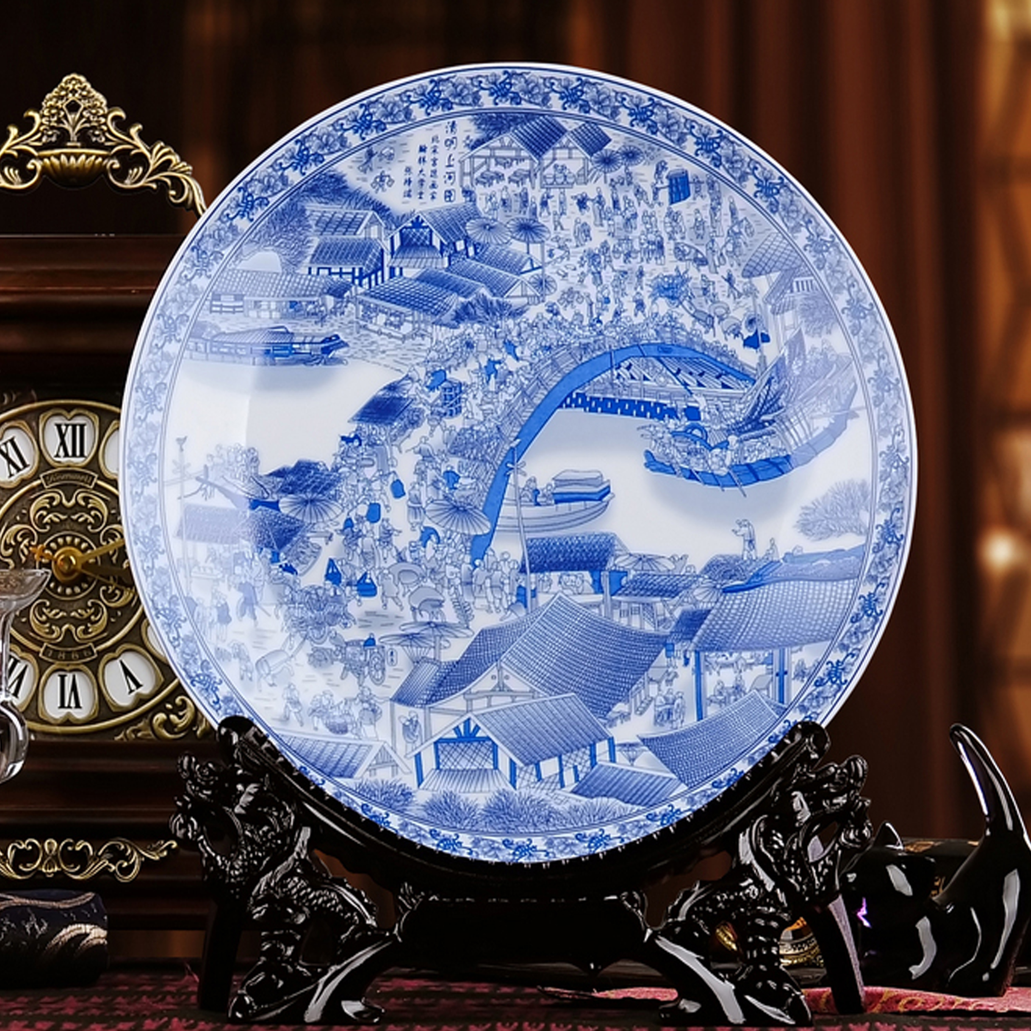 White ceramic plates for crafts - Jingdezhen Ceramics Porcelain Painting Decoration