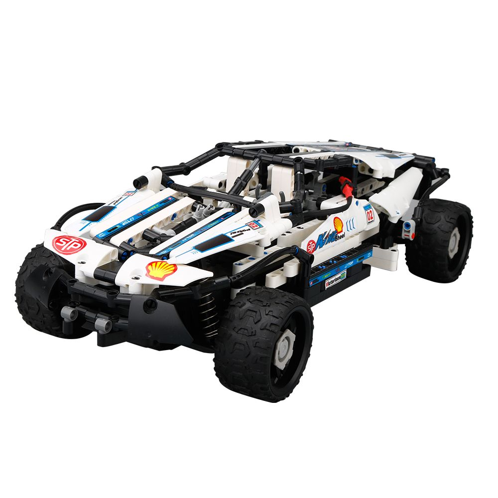 SDL 2018 New 2.4G 1:16 remote Control high speed Electric DIY Splice Toys RC Car White + black