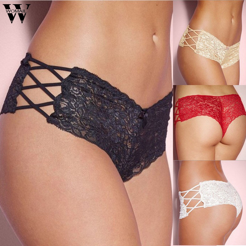 Lace Panties Women's Briefs Transparent Underwear Sexy Soft Plus Size Erotic Panties Hollow Out Lingerie Low Waist Female