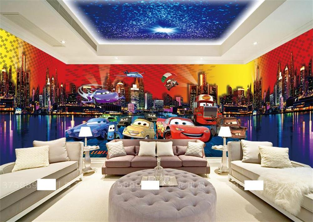 3d kids room wallpaper mural custom photo non woven wall sticker cars topic spacer photo painting bedroomktvhotelliving room