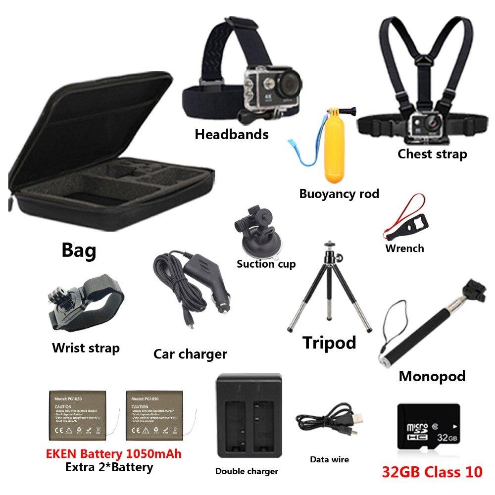 Sport Camera Accessories Set Waterproof Housing Protection Case Tripod Accessories For Eken H9R Go Pro Hero 6 5 Xiao Yi