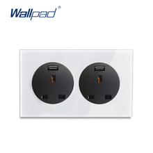 Wallpad L6 UK BS Standard 3x6 Wall Electrical Light Switch Socket USB Charging Port 13A Power Outlet Free Combination(China)