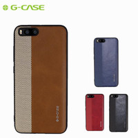 GCASE Brand Luxury PU Leather Nylon Cloth Case For Xiaomi Mi6 Mi 6 Slim Soft Card