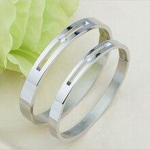 hot deal buy cz stone hollow bangles for men women slide love bracelets bangles bracelet luxury brand u buckle bangle valentine gift