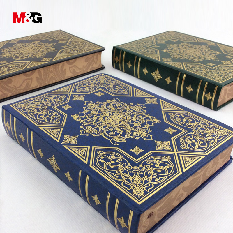 M&G classic vintage notebook for school supplies&office stationery quality printed gift diary books retro planner travel journal high quality pu cover a5 notebook journal buckle loose leaf planner diary business buckle notebook business office school gift
