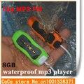 Piscinas de 8 GB impermeável Mp3 Player de rádio FM Mini clipe Mp3 Player de música Mp3 download