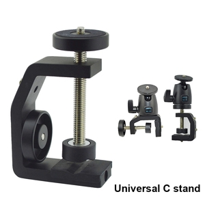 Image 5 - FFYY Multifunctional Aluminum Clip UNC1/4 Inch Screw Universal C Stand Clamp For Camera Tripod Flash Holder Bracket