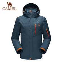Camel outdoor jacket Men three-in twinset windproof breathable outdoor jacket 2016 camping hiking jacket windbreaker