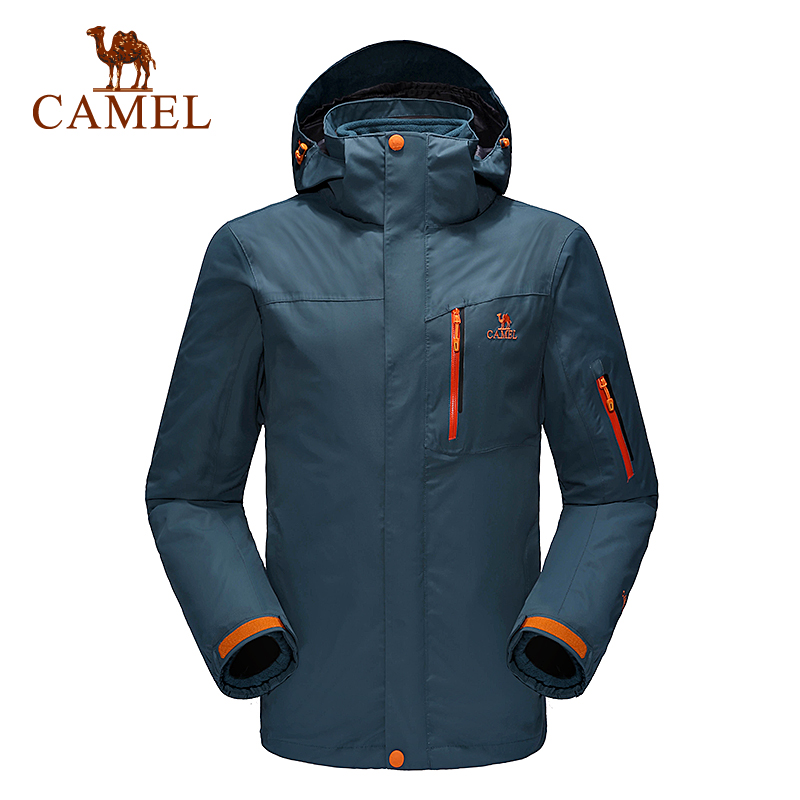 Camel outdoor jacket Men three-in twinset windproof breathable outdoor jacket 2018 camping hiking jacket windbreaker A6W214150 2017 new camel outdoor spring summer skin clothing girls waterproof breathable windbreaker sun protective jacket a7s1u7178