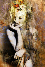 Modern abstract hand-draw Art Oil Painting Marilyn Monroe large canvas(no frame)