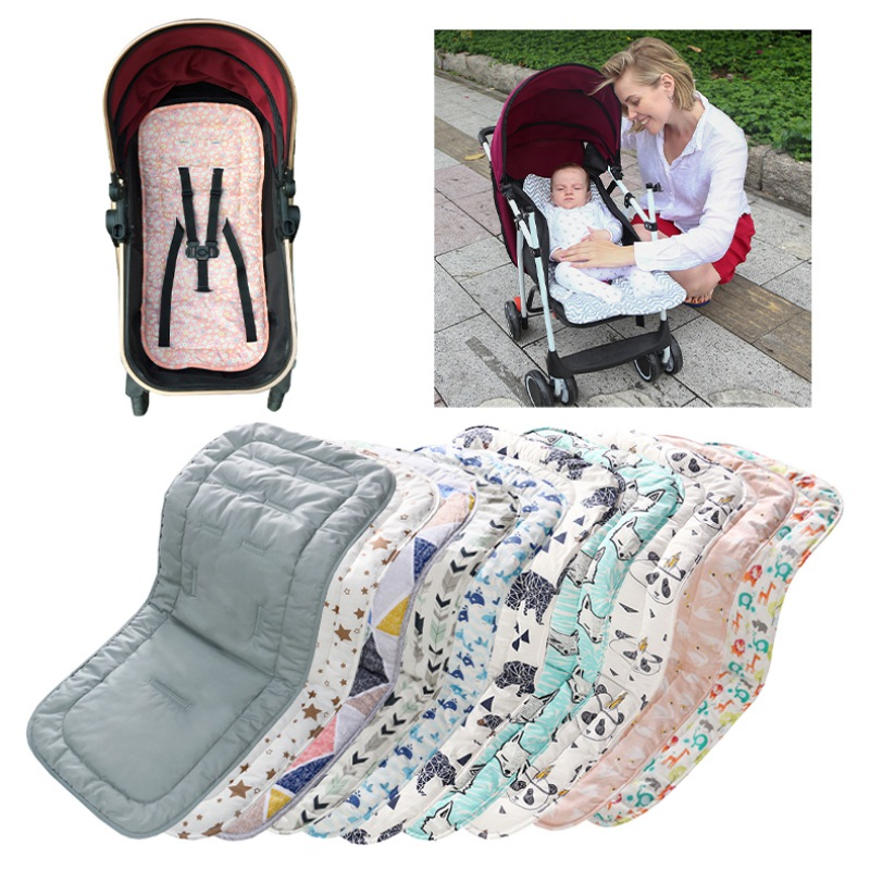 10 Colors Cotton Baby Seat Liner Stroller Seat Mat Breathable Cushion Pad For Car Seat High Chair Pushchair Stroller Accessories