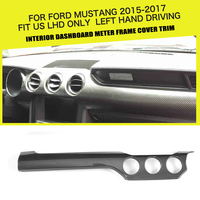 DRY Carbon Interior Dashboard Meter Frame Cover Trim for Ford Mustang GT Coupe 2 Door 2015 2017 Fit US Only Left Hand Driving