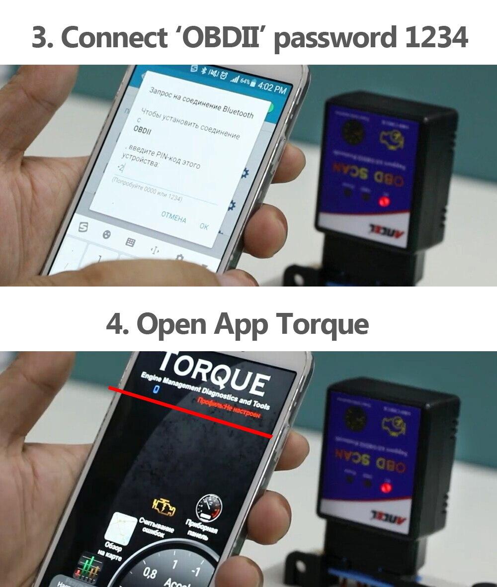 Elm327 Bluetooth ELM 327 V1 5 V 1 5 OBD2 OBDII Adaptor Auto Scanner for  Android Code Reader Diagnostic Tool PIC18F25K80 Ancel