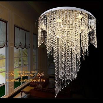 Modern K9 crystal chandelier ceiling lustres de crystal ceiling chandelier light fixtures  Dia50*H55cm led bulbs AC 110-240v new design led crystal light ceiling crystal chandelier modern home chandeliers