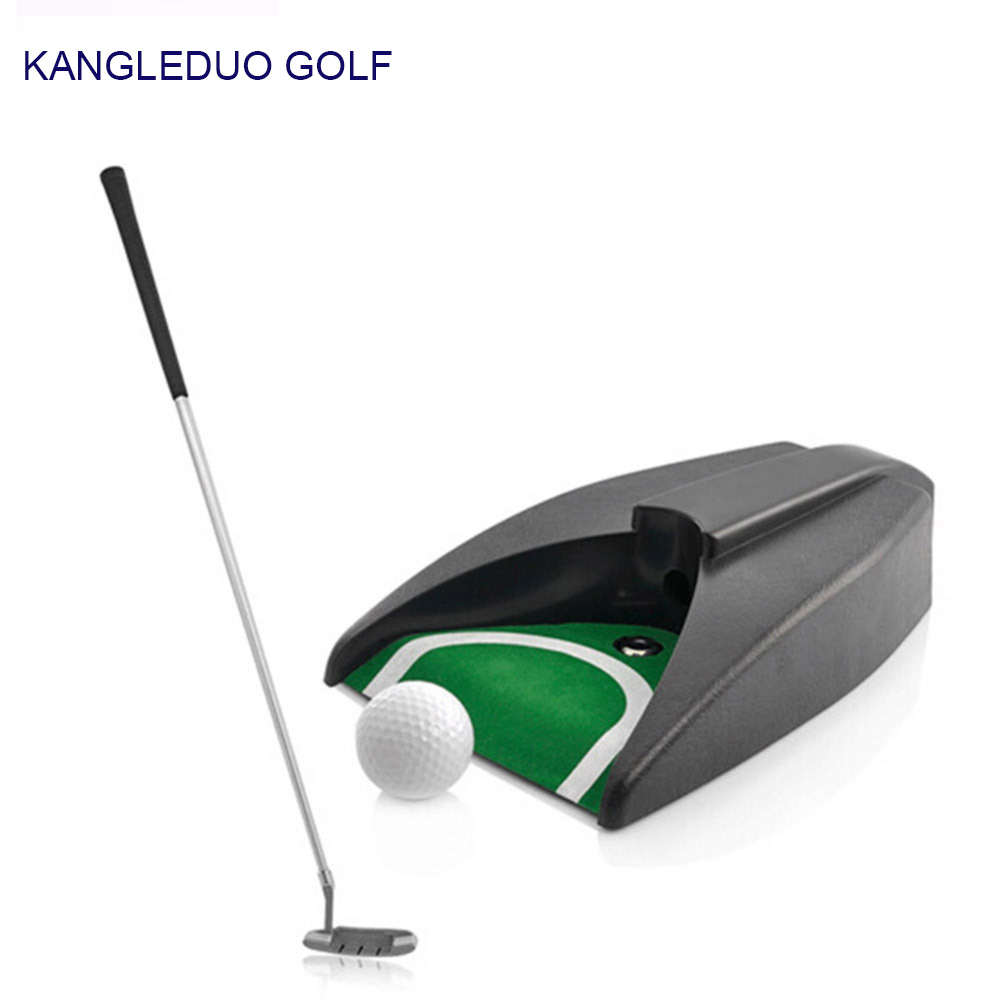 Home Indoor Office Outdoor Golf Training Set Auto Putting Cup Ball Return System Zinc Alloy Putter Aids