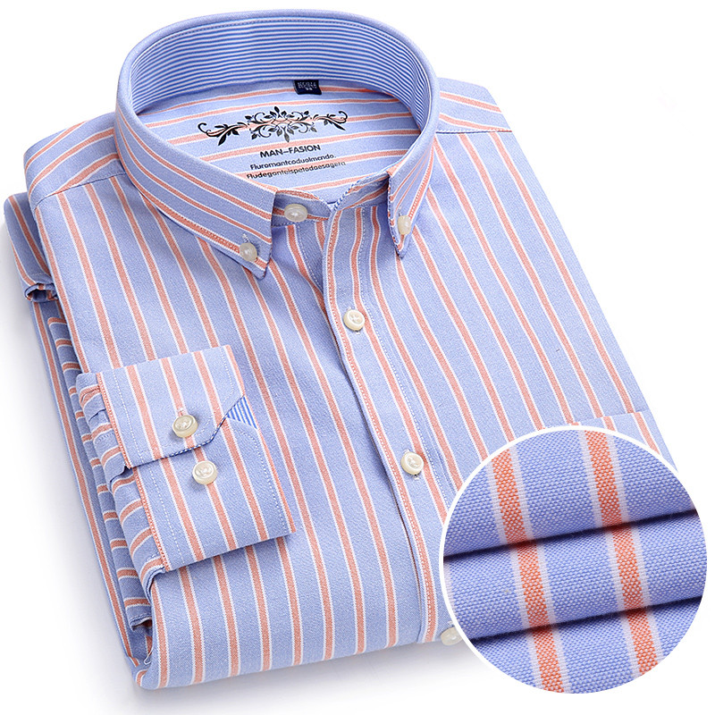 2018 New Arrival Men Shirts Brand Luxury Long Sleeve Cotton Formal Dress Shirt Male Fashion Slim Striped Casual Social Shirt Men