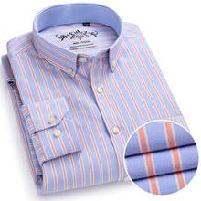 2018 New Arrival Men Shirts Brand Luxury Long Sleeve Cotton Formal Dress Shirt Male Fashion Slim Striped Casual social Shirt Men