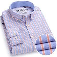 Chemise à manches longues pour homme, de marque, en coton, tenue formelle, Slim, rayée, collection 2018, collection nouveauté