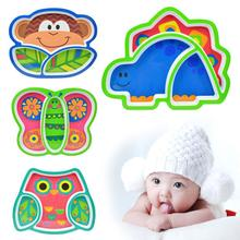 Cute Animal Shape Baby Dish Children Plate baby Feeding supplies