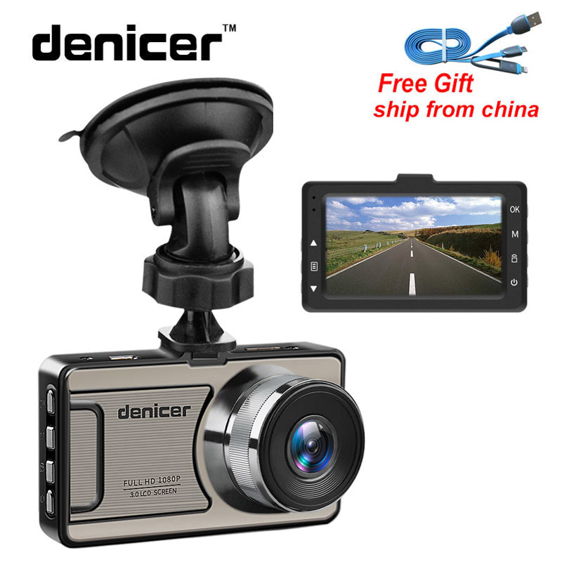 Novatek bilkamera Full HD DVR 1080P Dash-kamera 30 fps Video Bil Autoregistrator 170 graders Dash Cam Night Vision Bilinspelare