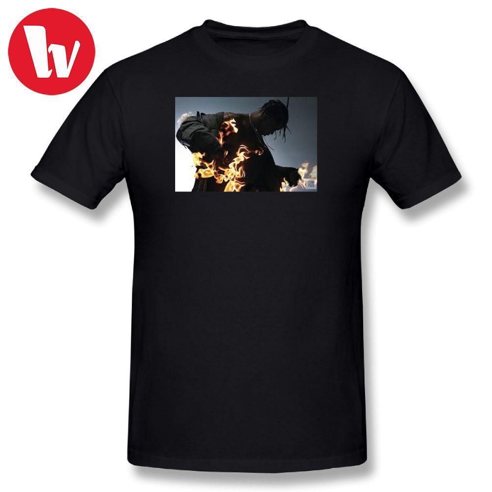 4ca5ffd6 Travis Scott T Shirt Men 3d Print 100 Percent Cotton T Shirts Short Sleeve T -Shirt Male Graphic Tees Awesome Music Tee Shirt