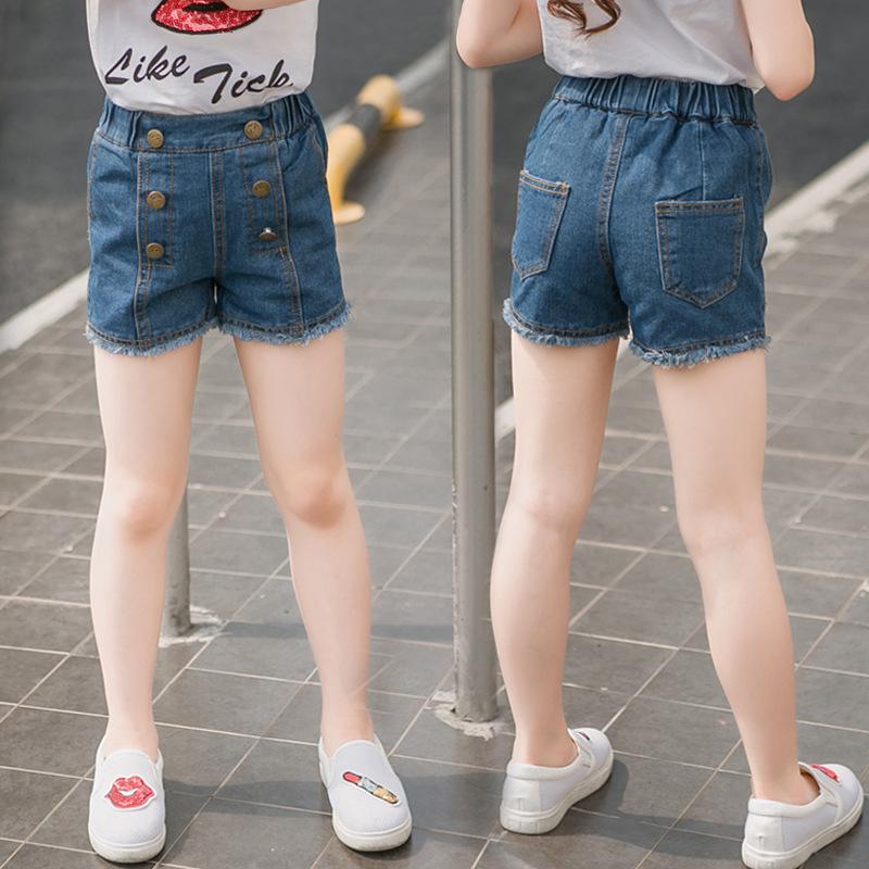 1f7986f72f Summer Girls Denim Shorts High Quality Girl Jeans Pants Kids Fashion Shorts  High Waist Diesel Clothing Children's Shorts Elastic