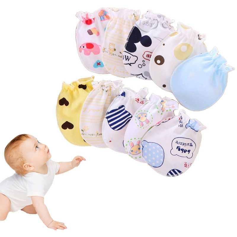 2 sztuk bawełna mieszanka rękawiczki dla dzieci Anti Scratch twarz ręka straż ochrony miękkie noworodka rękawiczki Baby Shower prezent dla dziecka dziewczyna chłopiec