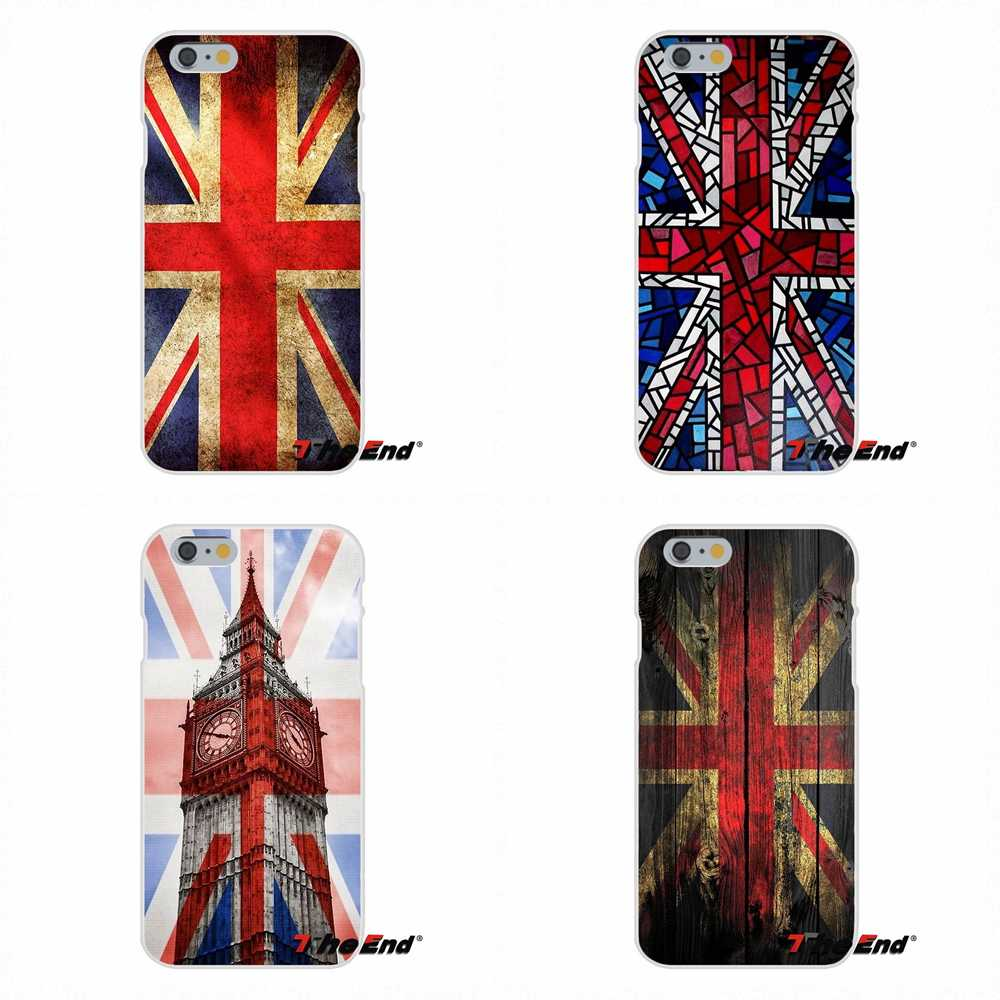 england british english uk flag Union Jack Phone Case For iPhone X 4 4S 5 5S 5C SE 6 6S 7 8 Plus Galaxy Grand Core Prime Alpha